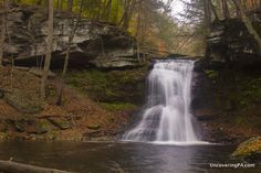 How to get to Sullivan Falls in State Game Lands 13, Sullivan County, Pennsylvania.