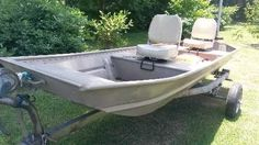 1988 Fisher Jon boat and trailer   metal hull   2 swivel seats   Great for fishing in creeks, ponds   Serious inquiries only. $800 USD