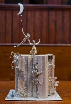 Peter Pan book sculpture...scottishbooktrust.com