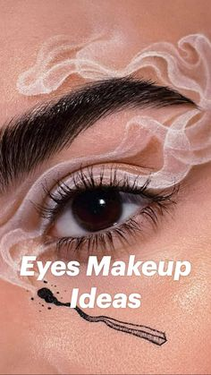 Dope Makeup, Edgy Makeup, Eye Makeup Art, Crazy Makeup, Eyebrow Makeup, Skin Makeup, Cute Makeup Looks, Creative Makeup Looks, Pretty Eye Makeup
