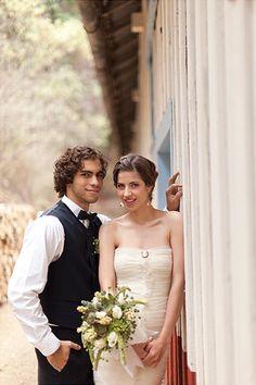 ► Vestido de novia en color rosa clara. #vestidosdenovia