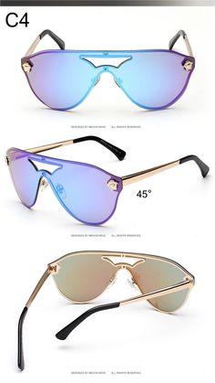 3513b8671b3 Aliexpress.com   Buy Rimles Medusa Sunglasses Women men 2016 Summer Brand  Designer Alloy frame
