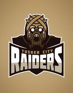 "Logos For ""Star Wars"" Sports Teams [T-Shirts]. Raiders"