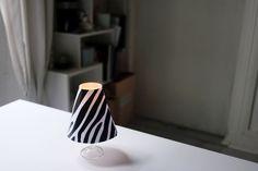 abat-jour de table, photophore avec bougie chauffe-plat