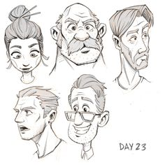 faces character design