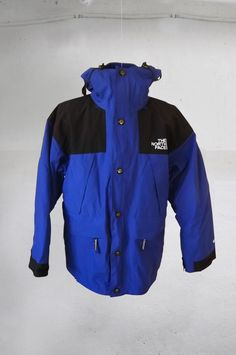 07a28953e77 Vintage 90s THE NORTH FACE men s 3-in-1 Gore-Tex winter ski jacket coat  Blue Black Size M