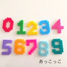 Numbers perler beads by Akkokko