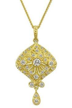 Gold & Diamond pendant deleuse.com