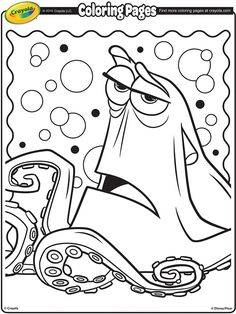 Printable Coloring Pages Colouring Color Hank The Septopus From Movie Finding Dory Disney