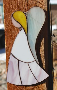 STAINED GLASS A tiny angel by themerrymusemarket on Etsy, $30.00