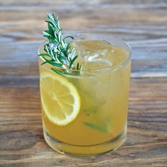 Rosemary Maple Bourbon Sour - bourbon, rosemary, lemon, maple syrup