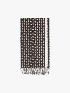 foulard greg noir et écru | agnès b. Headscarves, Black People