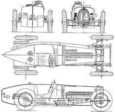 1934 Bugatti Type 59 3.3L GP OW blueprint