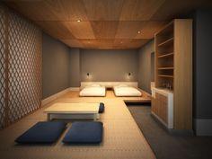 Interior Modern, Home Interior, Interior Architecture, Interior Design, Design Hotel, Bed Design, House Design, Japanese Bedroom Decor, Modern Bedroom