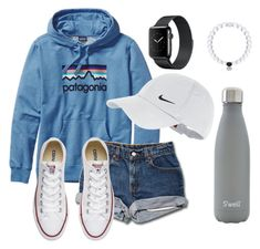 Thanks for 200 followers!!! by katie-1111 on Polyvore featuring Converse, NIKE, Patagonia and S'well