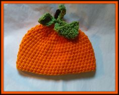 Pumpkin Baby Hat, Baby Toddler or Kids Size Handmade Crochet Made to Order by HaldaneCreations on Etsy