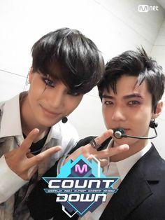 Kai, Sehun - 160623 Mnet M! Countdown twitter update Credit: Mnet. (엠넷 엠! 카운트다운)