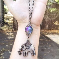 Lucky Elephant Necklace by GeishaCreations on Etsy