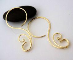 14k solid gold hoop earrings by atelierblaauw on Etsy