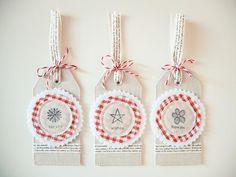 DIY Fabric Gift Tags Mayholic in Crafts