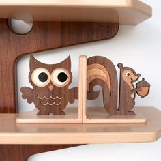 Owl Wood Bookend - Etsy