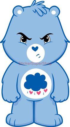 Grumpy Bear Care Bears Decal Removable Wall Sticker Home Decor Art ...