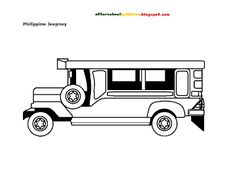 Free Coloring Page: Philippine Jeepney | School Hints
