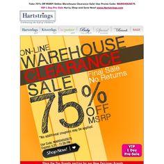Hartstrings - 75% OFF - Warehouse SALE!