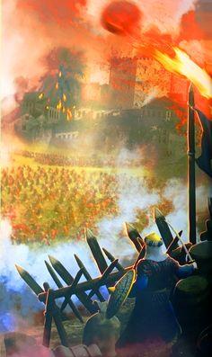 Ottoman Turks besieging Constantinople