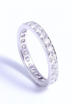 Hand made platinum eternity ring pave set diamond all the way around. Jewellery remodeling on site Pave Ring, Custom Jewelry Design, Eternity Ring, Fine Jewelry, Jewellery, Wedding Rings, Bling, Jewels, Engagement Rings