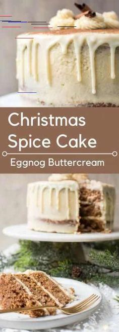 Christmas Spice Cake with Eggnog Buttercream 48 Christmas Cake Recipes: Holiday Foods & Joy Pea Health & Food. The post Christmas Spice Cake with Eggnog Buttercream appeared first on Gastronomy and Culinary. Mini Desserts, Christmas Desserts, Christmas Treats, Christmas Parties, Holiday Treats, Christmas Pajamas, Holiday Gifts, Easy Christmas Cake, Christmas Cooking