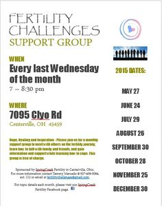 Fertility Challenges Support Group Meets Every Last Wednesday Of The Month At  Clyo Rd Centerville Ohio