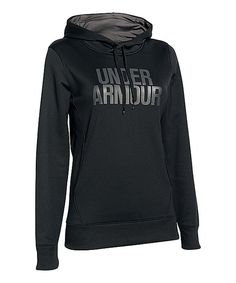 Look at this Under Armour® Black Fleece Graphic Hoodie on #zulily today!