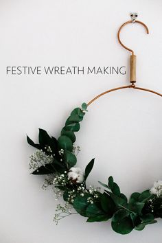Festive wreath making