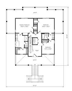 Beach house floor plan.