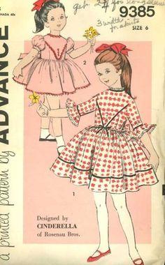 Vintage 1960's Girls' Retro Full Skirted Dress