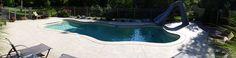 Fire Pit Near Pool, Fiberglass Swimming Pools, Blue Hawaiian, Healthy Exercise, Outdoor Decor, Design, Fiberglass Pools