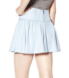 Clear Blue Denim Flouncy Skirt