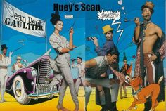 1992 - Jean Paul Gaultier adv Saul Bass, Pop Art, French Fashion Designers, Illustrations, Pierre Cardin, Jean Paul Gaultier, Creative Director, Sailor, Archive