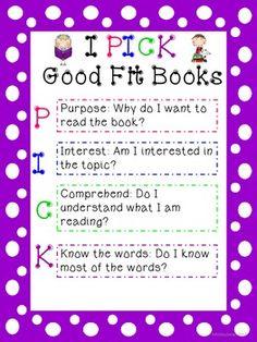 Freebie!! I PICK Good Fit Books... CUTE!!