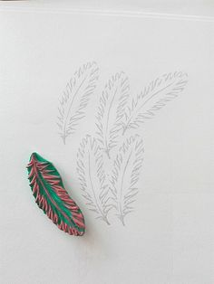 Feather rubber stamp | mojemalecodziennosci.blogspot.com/201… | Flickr