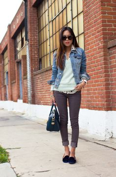 Song of Style's cool, casual weekend outfit