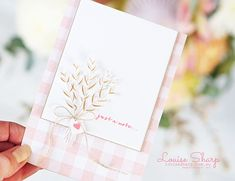 Louise Sharp: Be Inspired Design Team Hop Wish You Well, Wishing Well, Hand Stamped Cards, Christmas Catalogs, Beautiful Handmade Cards, Get Well Cards, Card Making Inspiration, Pretty Cards, Flower Cards