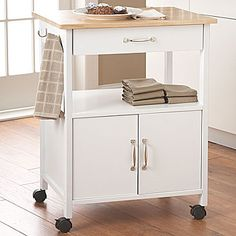 jcp | Raleigh Rolling Kitchen Cart with Towel Hooks