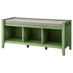 Threshold™ Open Storage Bench $169.99 Target, comes in chestnut, cherry, gray, put baskets in cubbies for toy storage