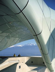 Nordpark Railway Stations in Innsbruck by Zaha Hadid Architects Chinese Architecture, Modern Architecture House, Futuristic Architecture, Architecture Details, Famous Architecture, Modern Houses, Modern Buildings, Zaha Hadid Architektur, Arquitectos Zaha Hadid
