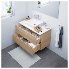 Ikea Godmorgon Odensvik Wash Stand With Two Drawers In