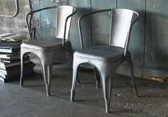 I Love Mixing Furniture Into Any Room Metal Cafe Chairs Antique
