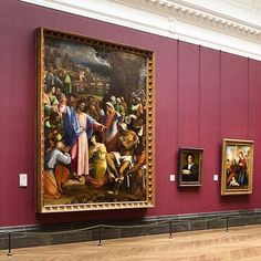 Sebastiano del Piombo's painting 'The Raising of Lazarus' was the very first painting in enter our collection when the National Gallery was founded in 1824.  Here you can see the painting on display in Room 8, with paintings by Rosso Fiorentino and Fra Bartolommeo.  Photo by #nationalgallery photographer Tom Patterson. #sebastiano #sebastianodepiombo #lazarus #angerstein