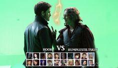 Rumpelsztyk vs Hook by VincentSharpe.deviantart.com on @deviantART